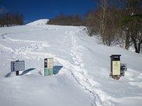 天空回廊B地点、階段も雪に埋まっています。