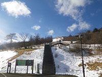 12/10園地内積雪全景